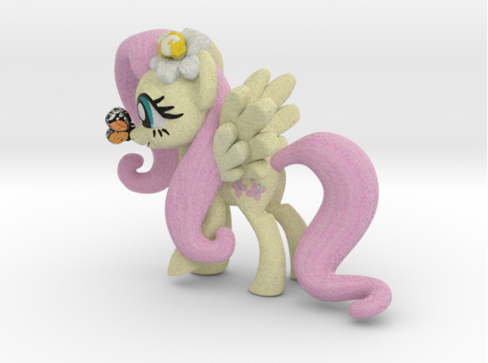 Fluttershy 1 Full Color - XS 3d printed Full Color Sand Stone