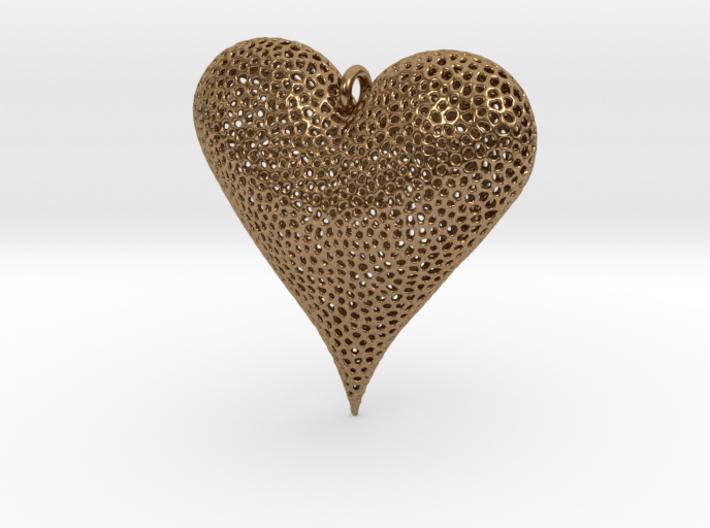 Valentines Day Voronoi Heart Pendant 3d printed