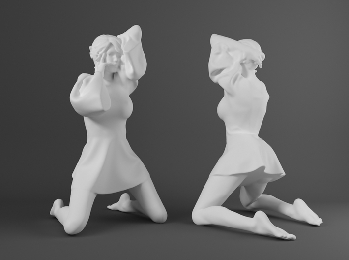 Skirt Girl-009-scale 1/32 3d printed