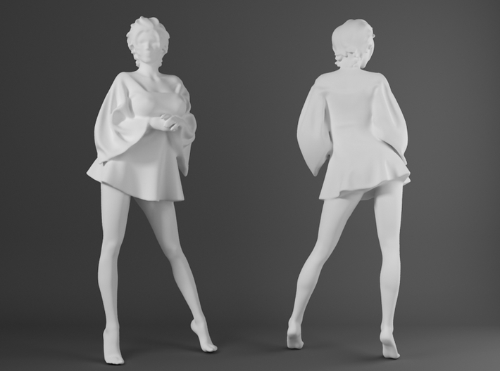 Skirt Girl-006-scale 1/32 3d printed