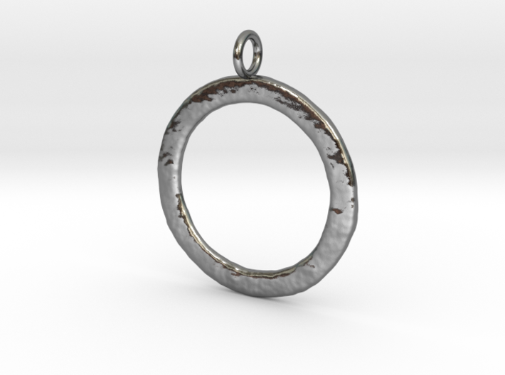 Ring-shaped pendant — rough 3d printed
