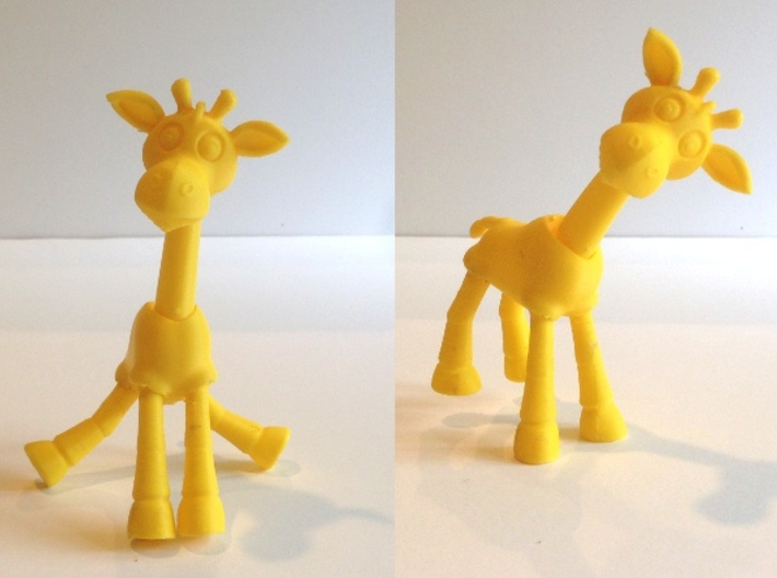 Stumbles the Balance Giraffe 3d printed Note photo is of 3D print from my home printer.  Will replace with Shapeways version when received