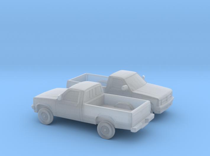 1/160 2X 1987-90 Dodge Dakota 3d printed
