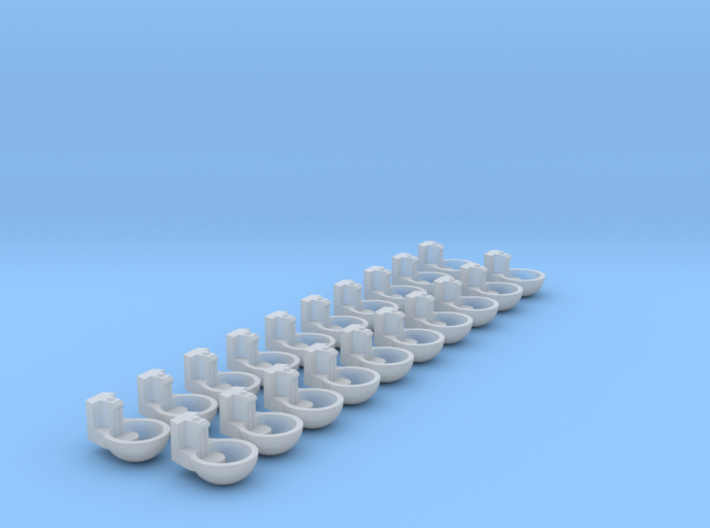 1/64 Humane Water Bowl 20x 3d printed