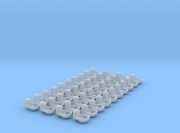 1/64 Humane Water Bowl 40x 3d printed