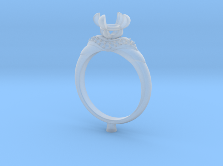 CC67-Engagement Ring Printed Wax. 3d printed