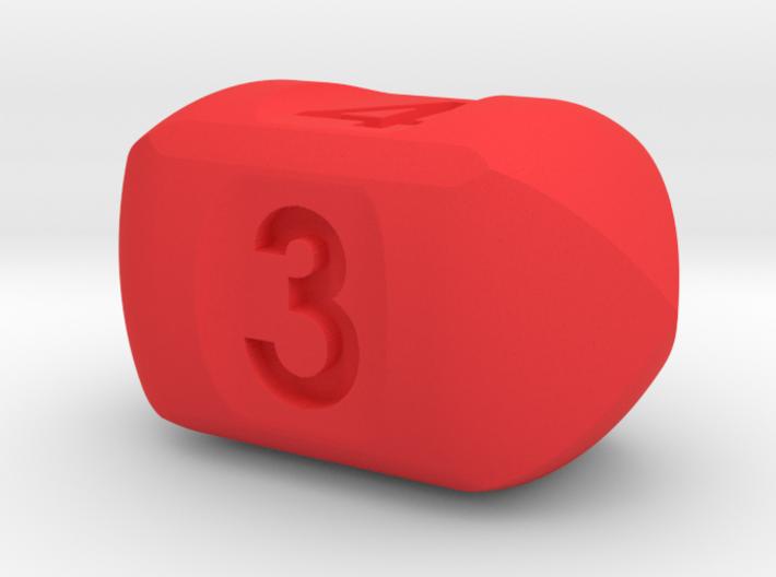Four sided roller die 3d printed