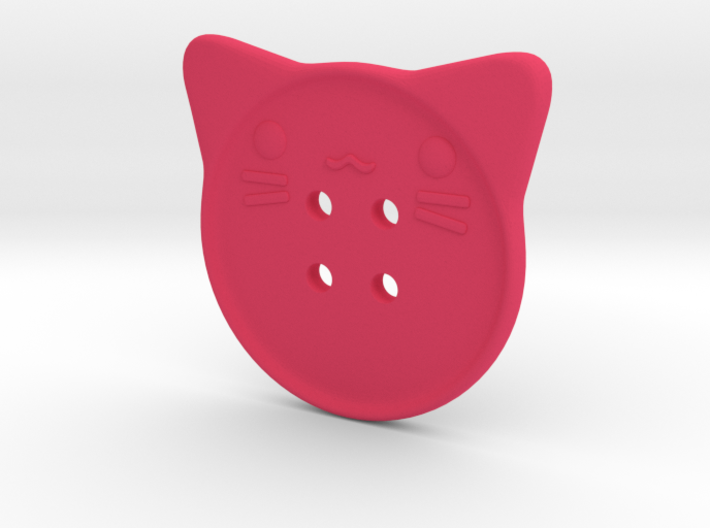 Cat Button 3d printed