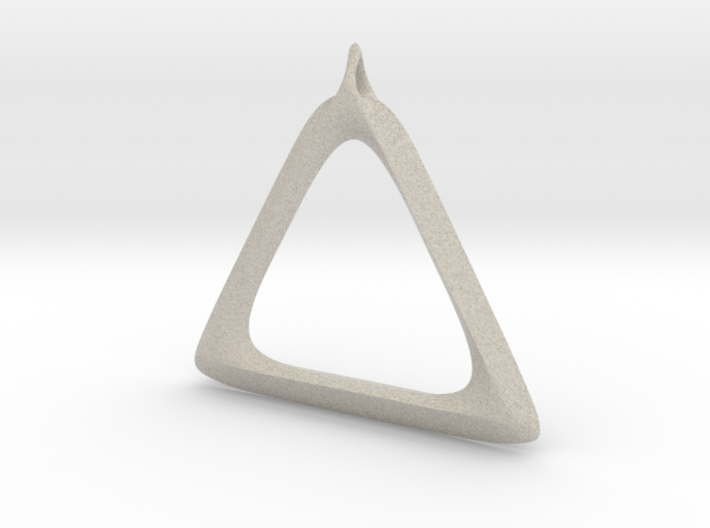 Triangle Pendant 3d printed