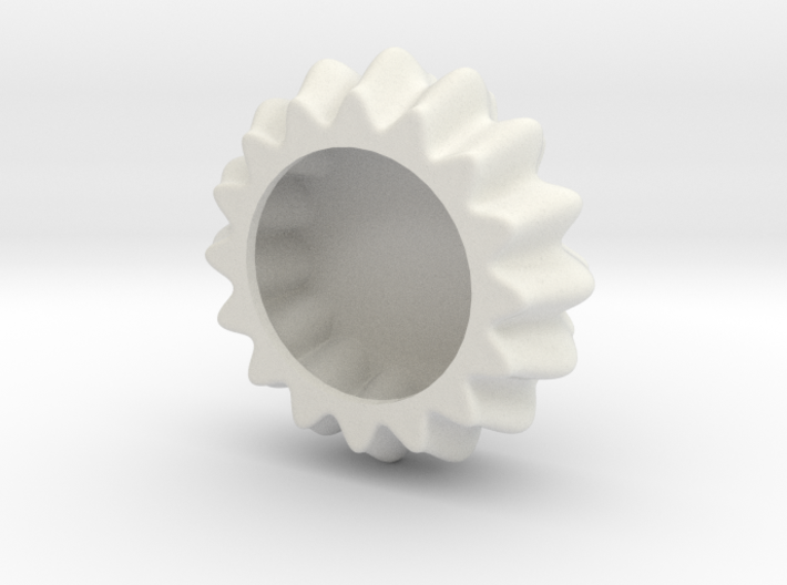 DRAW object - wavy puck hollow 3d printed