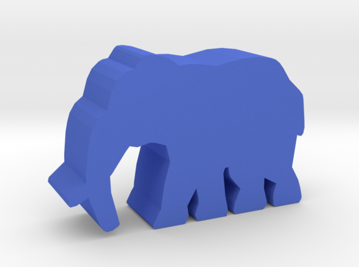 Game Piece Elephant, walking 3d printed