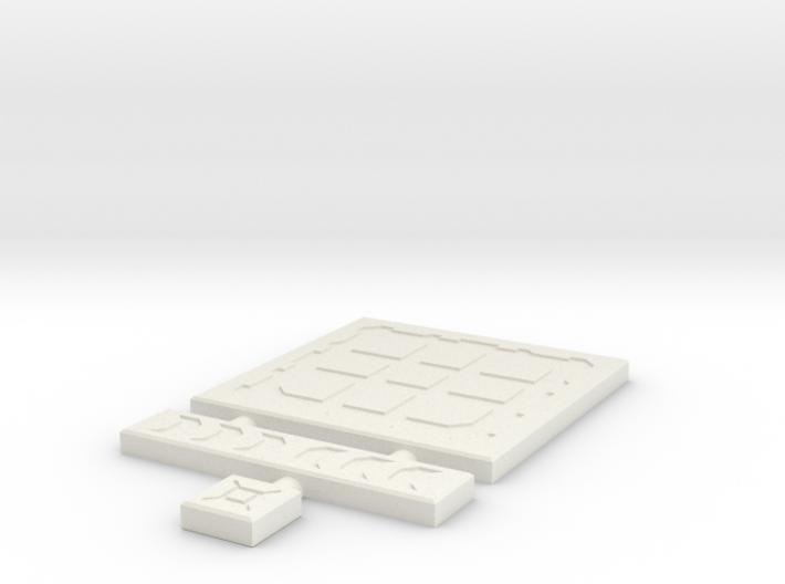 SciFi Tile 04 - Techno plate 3d printed