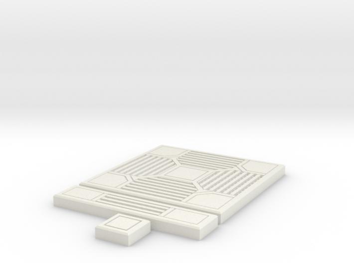 SciFi Tile 14 - 4-way grating 3d printed