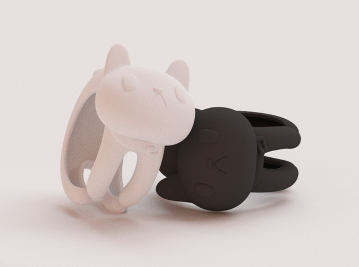 CatRing size 7 3d printed CGI not real product**