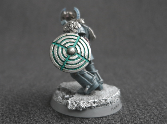 Miniature Shield 2 3d printed Model not supplied painted