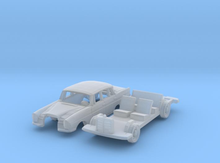 Mercedes-Benz 220S (TT 1:120) 3d printed
