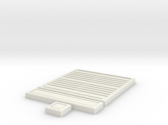 SciFi Tile 19 - Grating 3d printed