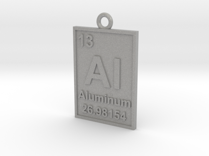 Aluminum Periodic Table Pendant 3d printed