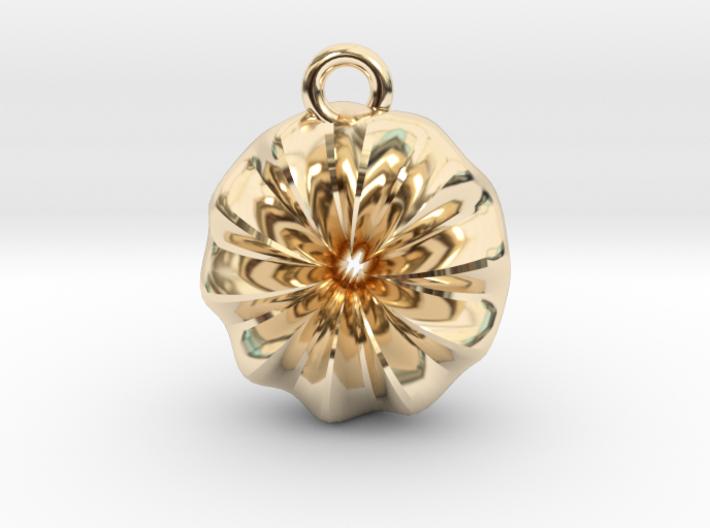 Warp Ring Pendant 3d printed