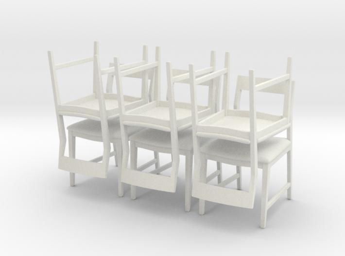1:24 Danish Modern Chair Set 3d printed