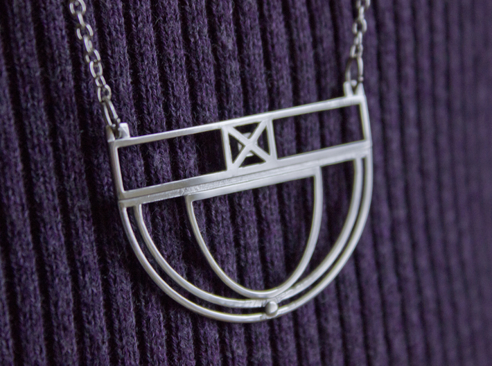 Architectural Pendant 3d printed Chain not included (available at any craft store)