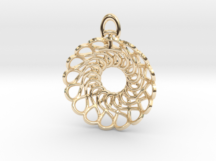 Forever and Always Pendant 3d printed 14k Gold Plated by Koogee Brown