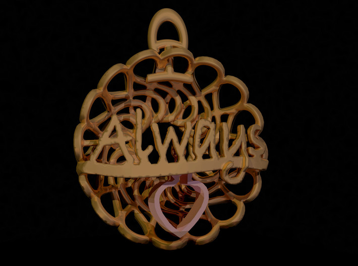Always and Forever Pendant 3d printed Add your own Heart Charm
