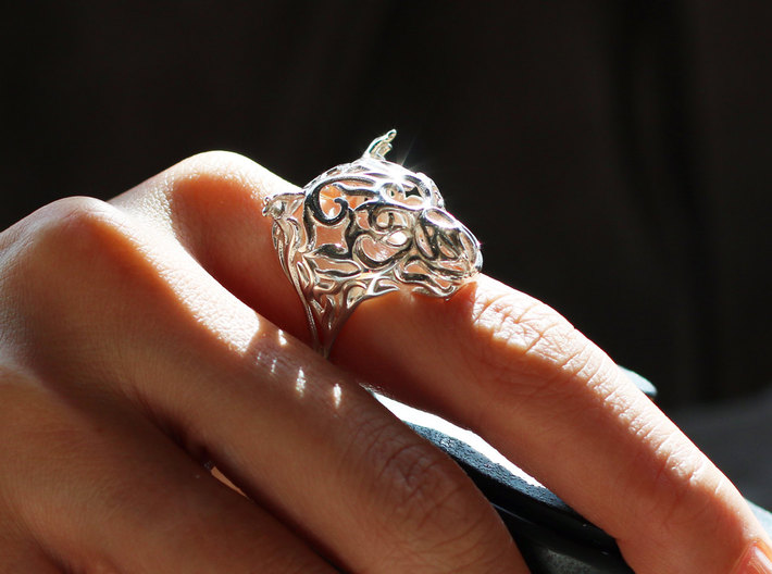 Zodiac Tiger Ring - Silver Tiger Ring, Size 6.5 3d printed Chinese Zodiac Tiger Ring - Zodiac Jewelry - Macan Ring - Vulcan Jewelry