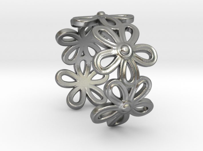 Daisy Ring 3d printed