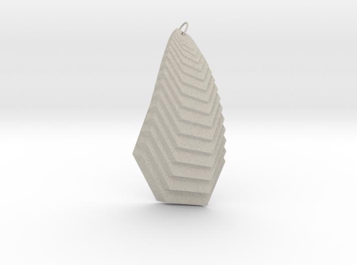 Cascade Pendant 3d printed