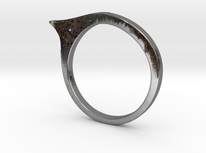 Modern ring US size 8 3d printed