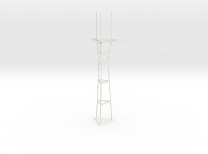 """12"""" Sutro Tower 3d printed"""