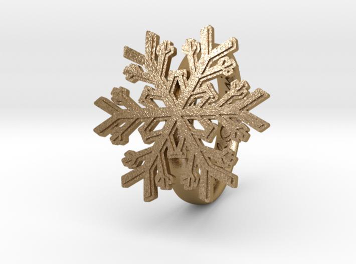 Snowflake Ring 1 d=18mm h35d18 3d printed
