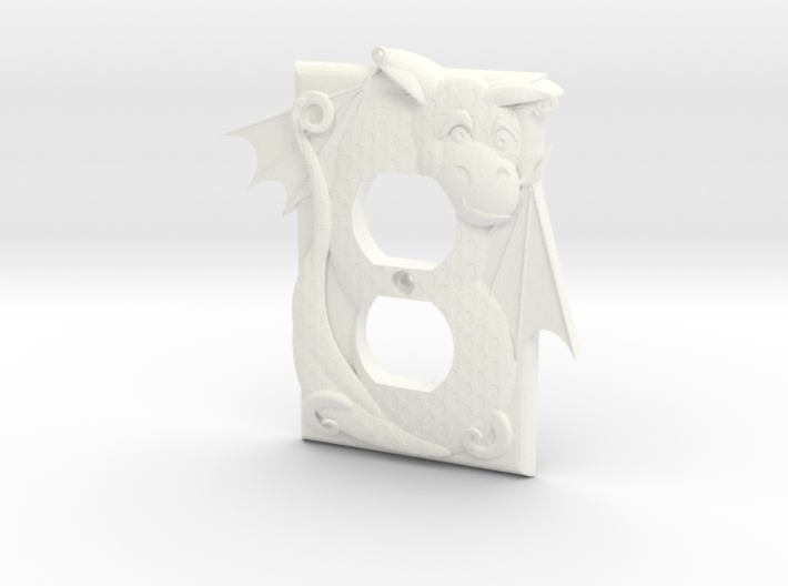 Dragon Outlet Cover 3d printed