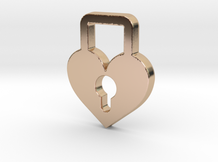 Heart Lock Pendant - Amour Collection 3d printed