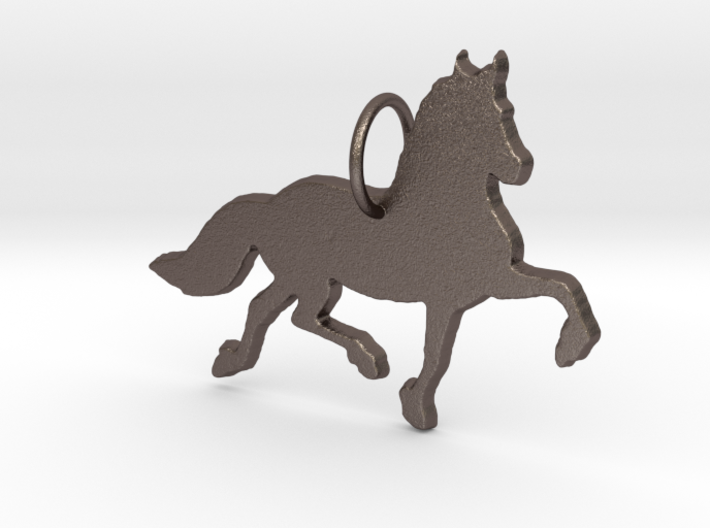 Friesian horse silhouette pendant made by 3d print 3d printed