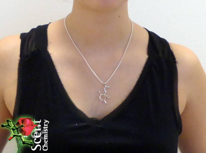 Irone 3d printed Irone pendant worn on a Thomas Sabo Glam and Soul basic necklace KE1107-001-12 in Sterling silver.