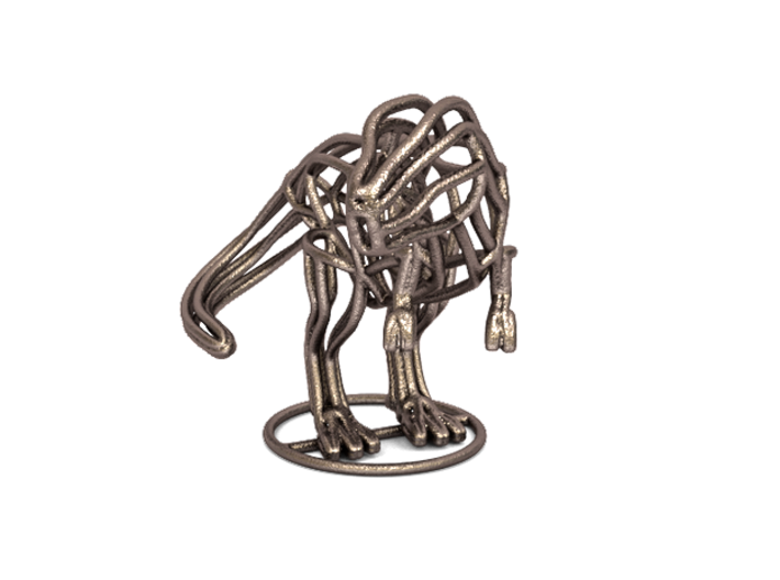 T-Rex Wireframe  3d printed