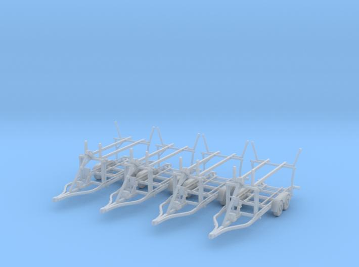 Boat trailer 01. N Scale  (1:160) or 10mm 3d printed