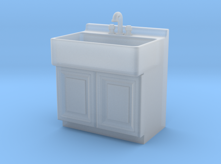 1:48 Farmhouse Sink Cabinet 3d printed