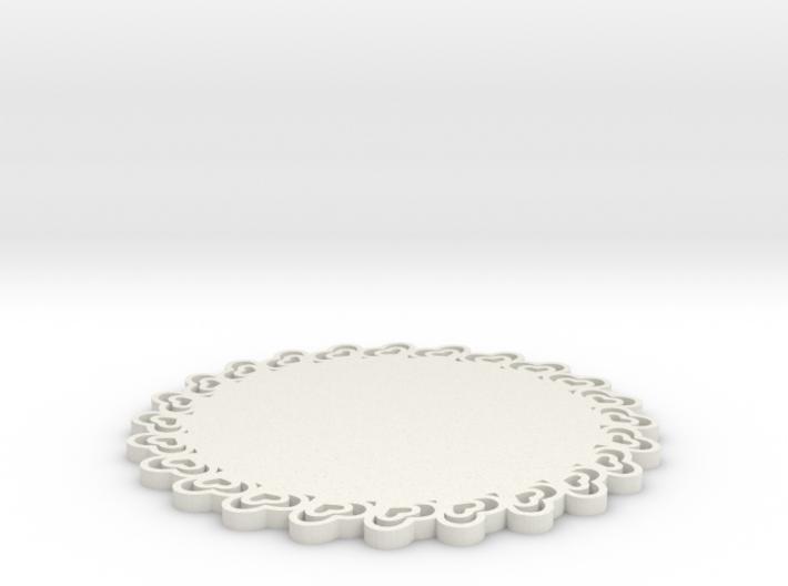 Third Scale Heart Dessert Platter 3d printed