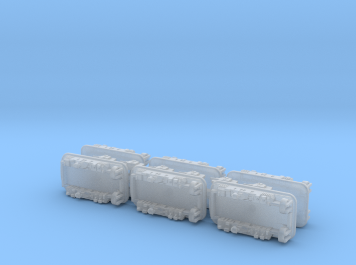 USN LCAC Landing Craft 1/2400 3d printed