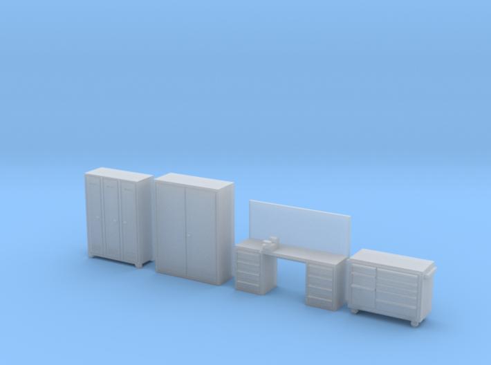 HO Scale Workshop Interior Details 3d printed