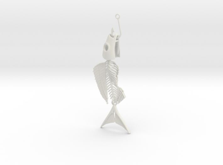 Fish bone earing 3d printed
