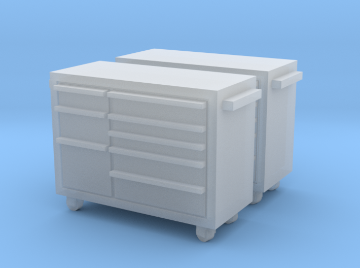 HO Scale 2x Snap-On Toolbox 3d printed