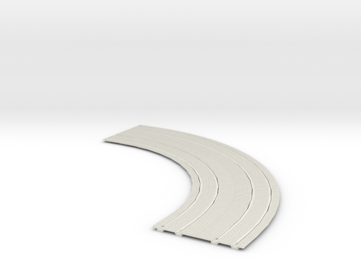 """Double Trolley Track 7"""" radius inside curve 2"""" cen 3d printed"""