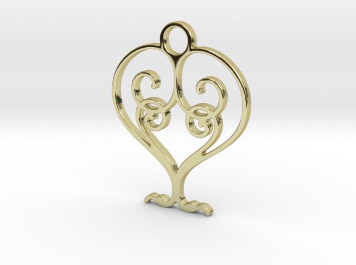Love Grows Pendant 3d printed
