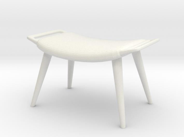 1:24 Wegner Lounge Ottoman 3d printed