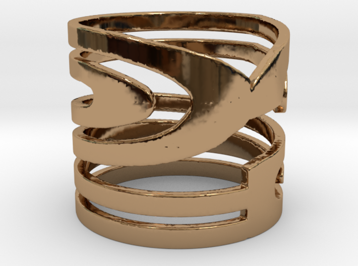 NUMBER 2 RING Size 7 3d printed