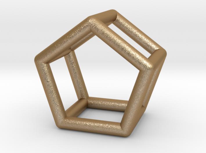 0439 Pentagonal Prism (a=1сm) #001 3d printed
